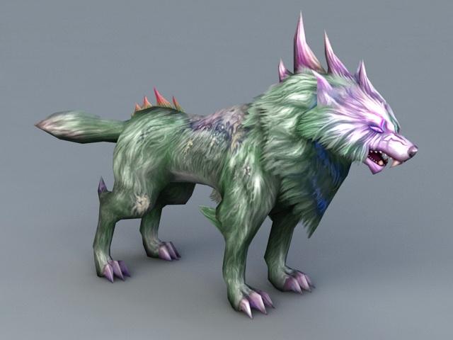 Evil Wolf 3d model