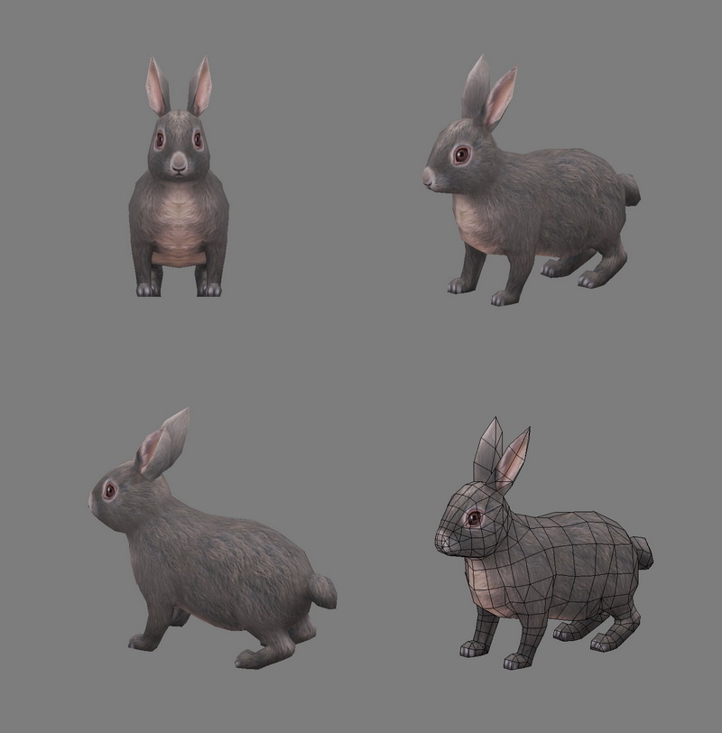 Rabbit Animal 3d Model 3ds Max Files Free Download