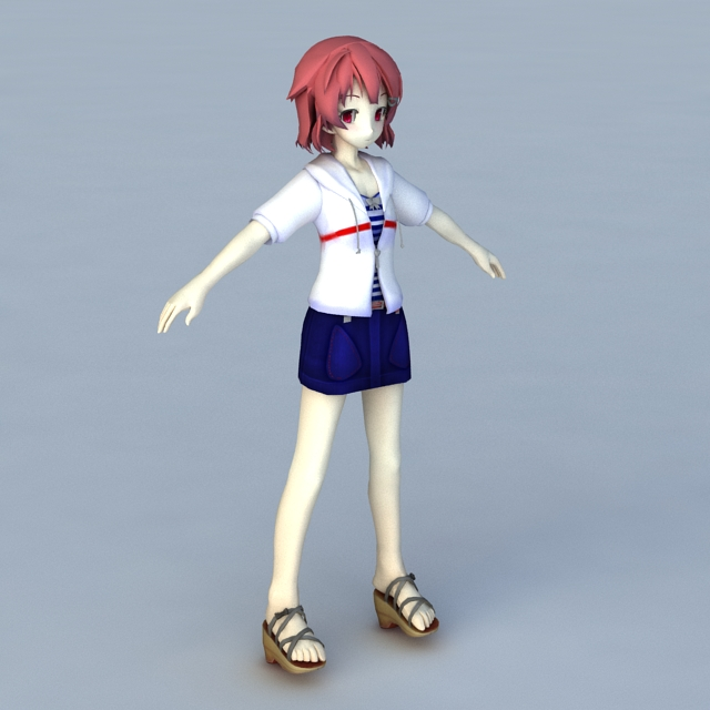 Anime Girlfriend 3d model