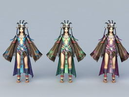 Princess of Miao People 3d model