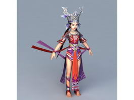 Ancient Hmong Princess 3d model