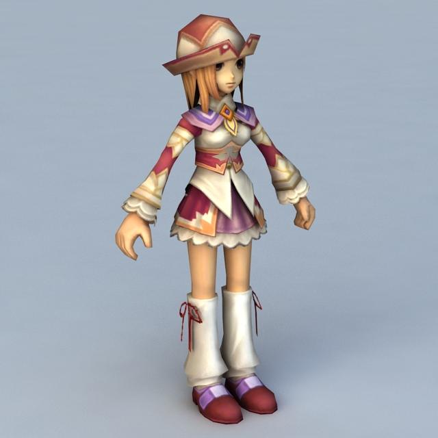 Anime Instructor Girl 3d model