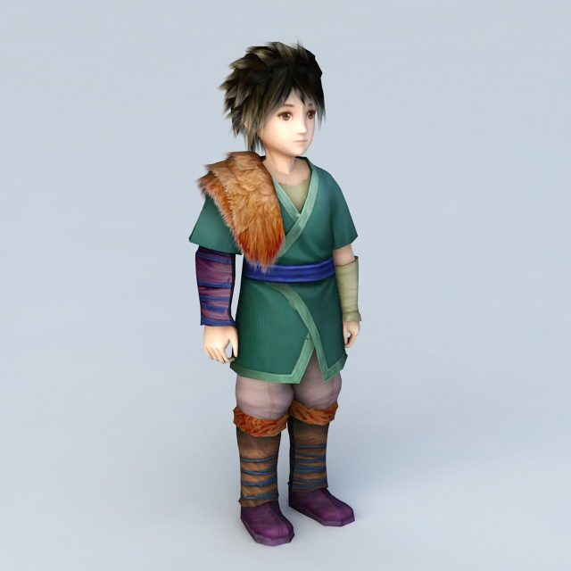 Traditional Chinese Teenage Boy 3d model