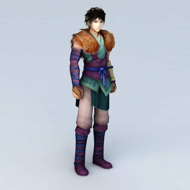 Mongolian Prince 3d model