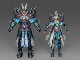 Dragon Warrior Couple 3d model