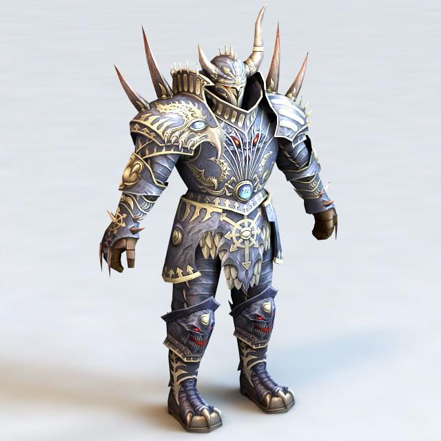 Dark Warrior Heavy Armor 3d model