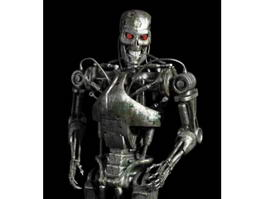 T-800 Endoskeleton Full Body 3d model