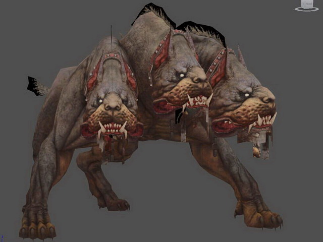 Cerberus Three-Headed Dog 3d model