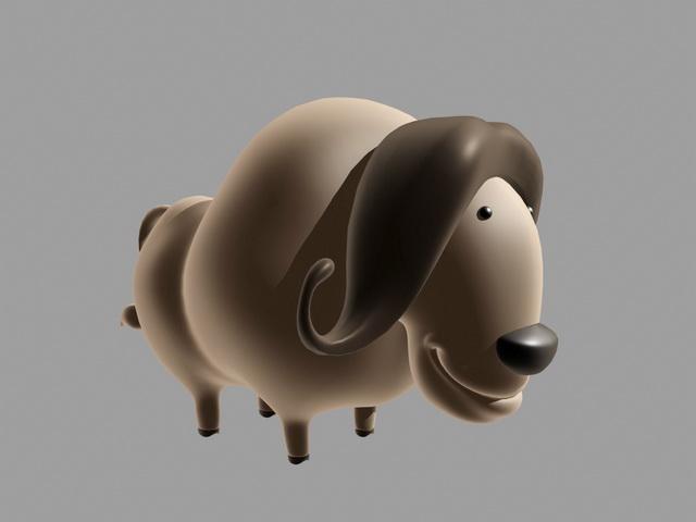 Water Buffalo Cartoon 3d model