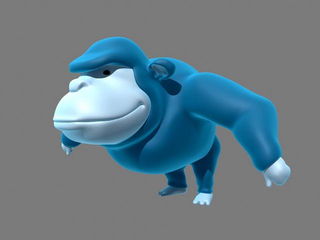 Gorilla Cartoon 3d model