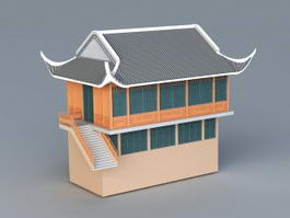 Old Store Building 3d model