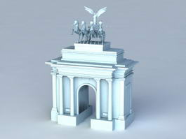 Wellington Arch London 3d model