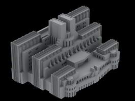 SIS Building in London 3d model