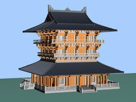 Chinese Pagoda Building 3d model