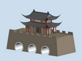 Chinese Ancient City Wall 3d model