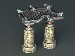 Ancient Stone Arch 3d model