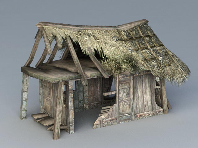 Destroyed House 3d Model 3ds Max Files Free Download