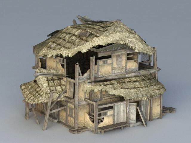 Damaged House 3d model