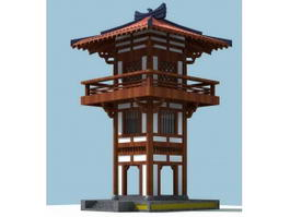 Japanese Pagoda Architecture 3d model