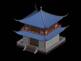 Korean Pagoda Architecture 3d model