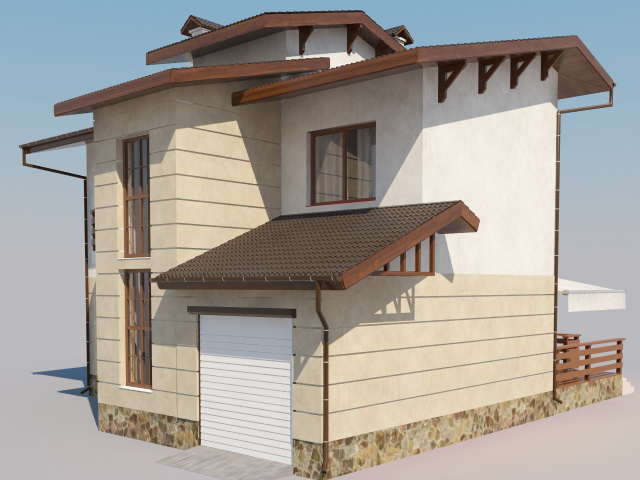 Simple modern house 3d model 3ds max object files free for Minimalist house 3d max