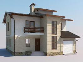 Simple Modern House 3d model