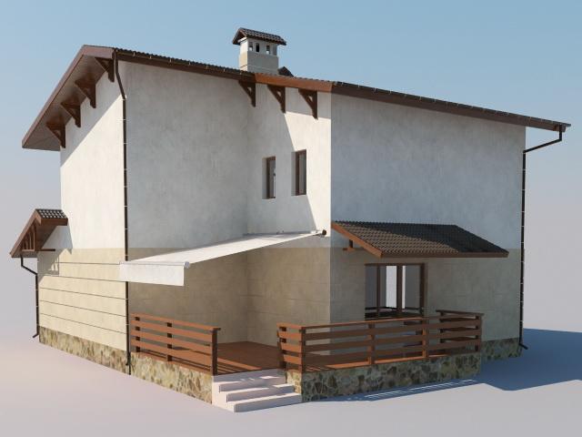 Simple Modern House 3d Model Cadnav