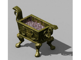 Bronze Ding Vessel 3d model