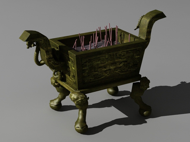 Bronze Ding Vessel 3d model