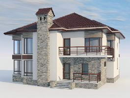 Villa House Design 3d model