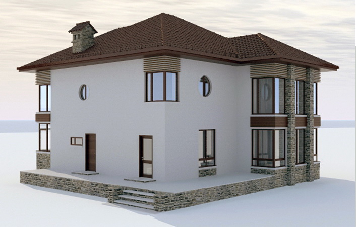 Villa House Design 3D Model 3Ds Max,Autodesk Fbx Files Free
