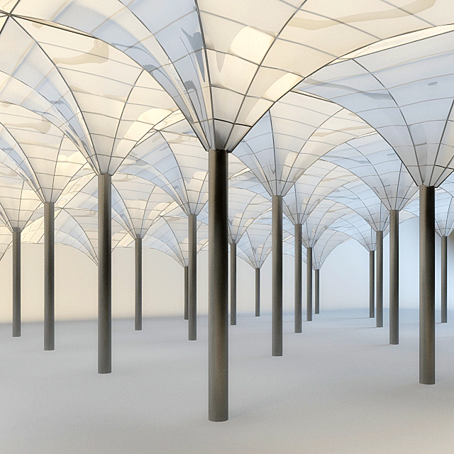 Glass roof system 3d model 3ds max autodesk fbx files free for 3d roof wallpaper