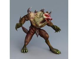 Werewolf Warrior 3d model