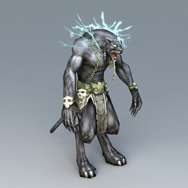 Humanoid Panther 3d model