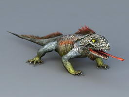Giant Lizard Monster 3d model