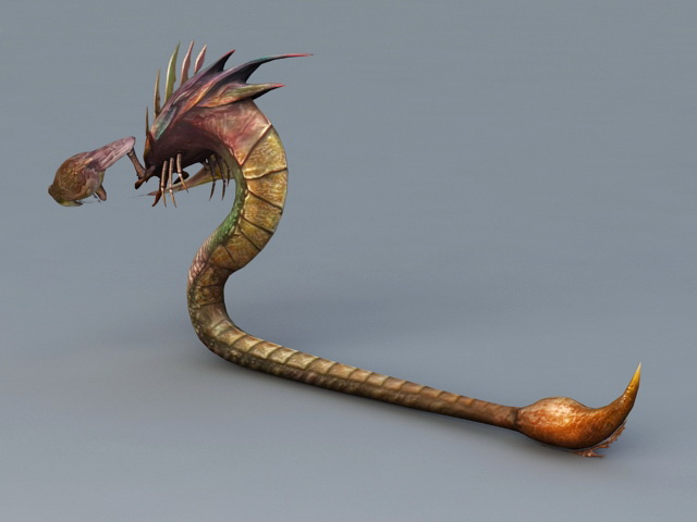 Snake Scorpion Monster 3d Model 3ds Max Files Free