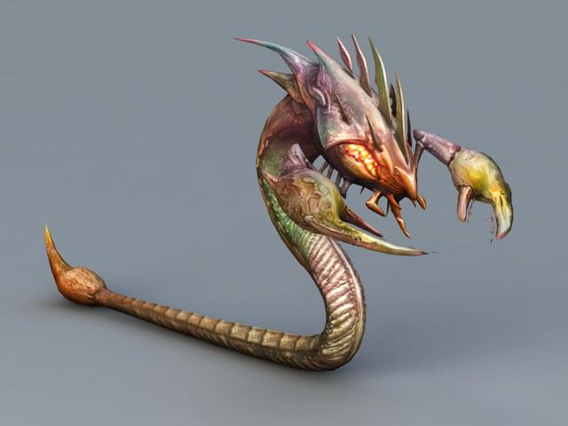 Snake Scorpion Monster 3d model 3ds Max files free ...