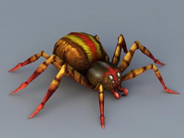 Poisonous Spider 3d model