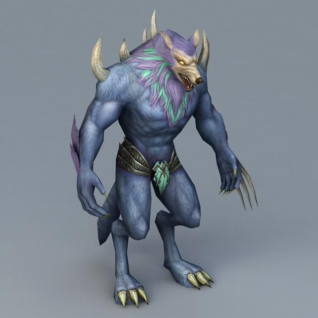 Werewolf Soldier 3d model