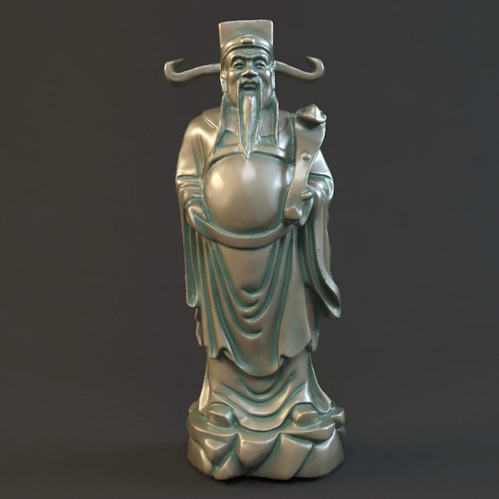 Caishen Statue 3d model