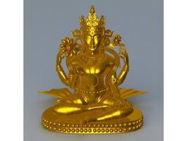 Thai Religious Statue 3d model
