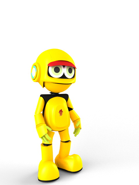 Animated Yellow Robot 3d model