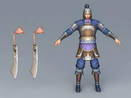 Ancient Chinese Soldier Concept 3d model