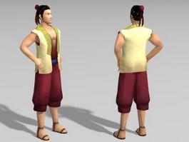 Ancient Chinese Fisherman 3d model