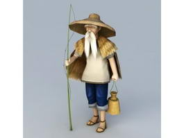 Old Fisherman 3d model