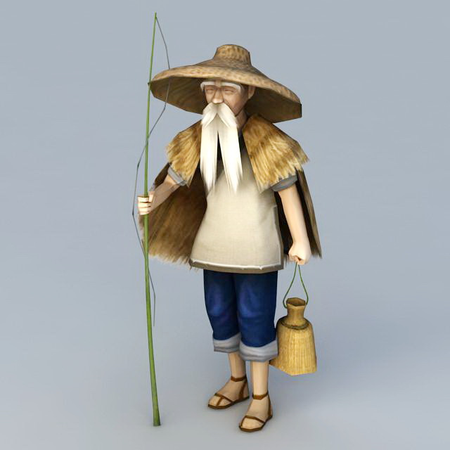 Old Fisherman 3d Model 3ds Max Files Free Download