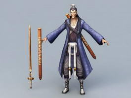 Swordsman Chinese Character 3d model