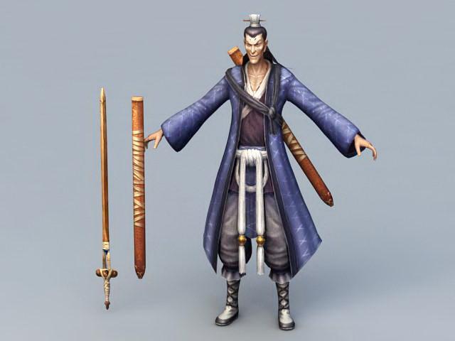 Swordsman Chinese Character 3d model