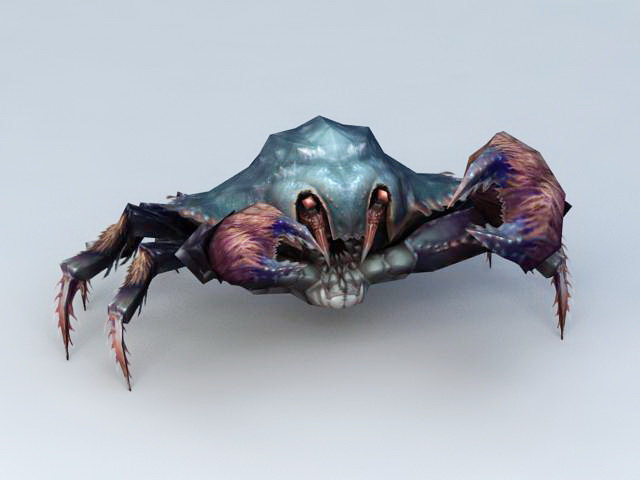 Blue Crab 3d rendering