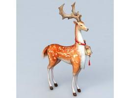 Fallow Deer Buck 3d model